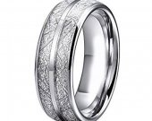 COI Tungsten Carbide Ring With Meteorite - TG4622