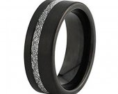 COI Black Tungsten Carbide Ring With Meteorite - TG4630