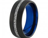 COI Tungsten Carbide Two Tone Ring With Meteorite - TG4640