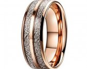 COI Tungsten Carbide Meteorite Wedding Band Ring - TG4727