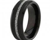 COI Black Tungsten Carbide Meteorite Wedding Band Ring-TG4747