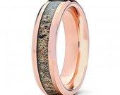 COI Tungsten Carbide Deer Antler Wedding Band Ring - TG1507A