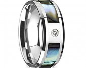 COI Tungsten Carbide Ring With Mother of Pearl - TG1746AA