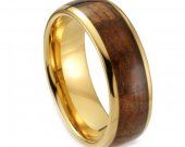 COI Tungsten Carbide Wedding Band Ring With Wood - TG1753AA