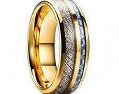 COI Tungsten Carbide Carbon Fiber Meteorite Ring-TG1806AAA