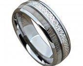 COI Tungsten Carbide Antler Meteorite Ring-TG1820AAA
