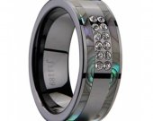 COI Black Tungsten Carbide Ring With Mother Of Pearl - TG2270