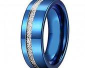 COI Tungsten Carbide Meteorite Wedding Band Ring - TG2426AA