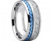 COI Tungsten Carbide Carbon Fiber Meteorite Ring - TG2555