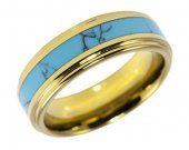 COI Tungsten Carbide Turquoise Wedding Band Ring - TG2573AA