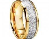COI Tungsten Carbide Meteorite Wedding Band Ring - TG2593AA