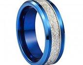 COI Tungsten Carbide Meteorite Wedding Band Ring - TG2807AA
