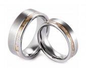 COI Tungsten Carbide Deer Antler Wedding Band Ring - TG3008A