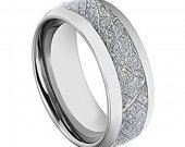 COI Tungsten Carbide Wedding Band Ring With Meteorite-TG3198