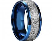 COI Tungsten Carbide Ring With Meteorite - TG3207A