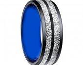COI Tungsten Carbide Two Tone Meterorite Ring - TG3403AA