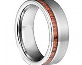 COI Tungsten Carbide Wedding Band Ring With Wood - TG3498A