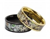 COI Tungsten Carbide Camo Wedding Band Ring - TG3569