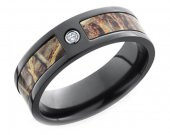 COI Black Tungsten Carbide Camo Wedding Band Ring - TG3581