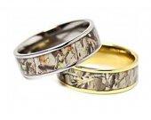 COI Tungsten Carbide Camo Wedding Band Ring - TG3625