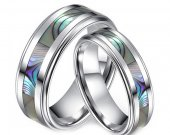 COI Tungsten Carbide Ring With Mother Of Pearl - TG3635