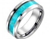 COI Tungsten Carbide Wedding Band Ring With Opal - TG3755