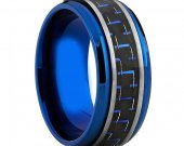 COI Tungsten Carbide Ring With Carbon Fiber - TG4012