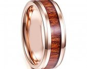 COI Tungsten Carbide Wedding Band Ring With Wood - TG4114