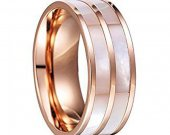 COI Tungsten Carbide Ring With Mother of Pearl - TG4128AA