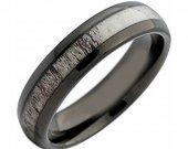 COI Black Tungsten Carbide Deer Antler Ring - TG4215AA