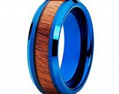 COI Tungsten Carbide Wedding Band Ring With Wood - TG4524