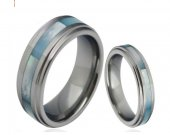 COI Tungsten Carbide Ring With Mother of Pearl - TG4307