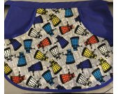 Multi colored Dalek Half Apron with large center pocket size medium/large