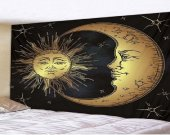 Fabric Wall Hanging/Throw Sun and Moon