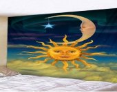 Fabric Wall Hanging/Throw Sun and Moon 3