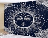 Fabric Wall Hanging/Throw Sun and Moon 4