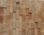 Wood cladding Unique wooden mosaic pattern. Wall panel. Decorative wood panels for walls