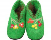 Uggebi Shoes for Home Pure Green Color