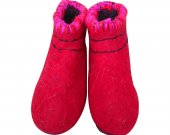 Uggebi Shoes for Home Pure Red Color