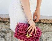 Handmade crocheted handbag.