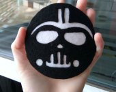 Star Wars gift Star Wars present Felt Darth Vader Gift Coffee coaster Table Coaster Darth Vader Present Boyfriend gift Friend Gift For him