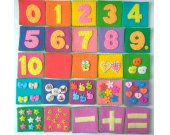 Memory game Counting Felt cards Felt numbers Multicolored Felt memory Homeschool Busy toy Montessori toddler game Busy math Felt game Gift