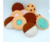 Felt cookies Felt cookie set Pretend Play cookies Felt gift for Girls toy Bake cookies Tea party cookies Felt chocolate chip