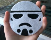 Felt Stormtrooper coaster Tea coaster Imperial Stormtrooper gift Mug holder Kitchen decor Cup coaster Geek gift Nerd gift Tea party decor