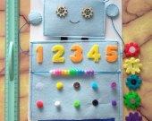 Felt robot Toddler busy book Felt board Fidget board Busy board Activity board Sensory board Quiet book Activity book Felt book Baby playmat
