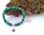 Green Emerald Stretch Bracelet,Gemstone Stretch Bracelet, Beaded Bracelet,Faceted Natural Emerald