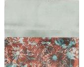 Butterfly Foldanote Note Paper Pink Orange Grey Brown