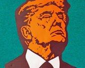 Orange Trump Original Art Graphic T Shirt Unisex Medium Gray President Political Cotton