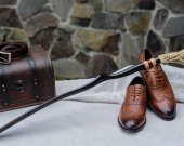 Great gift for men - Exclusive Shoehorn (black bog wood) | Only Natural Materials | Master's handmade | One of a Kind