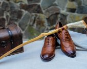 Great gift for men - Exclusive Shoehorn (yellow nut tree) | Only Natural Materials | Master's handmade | One of a Kind